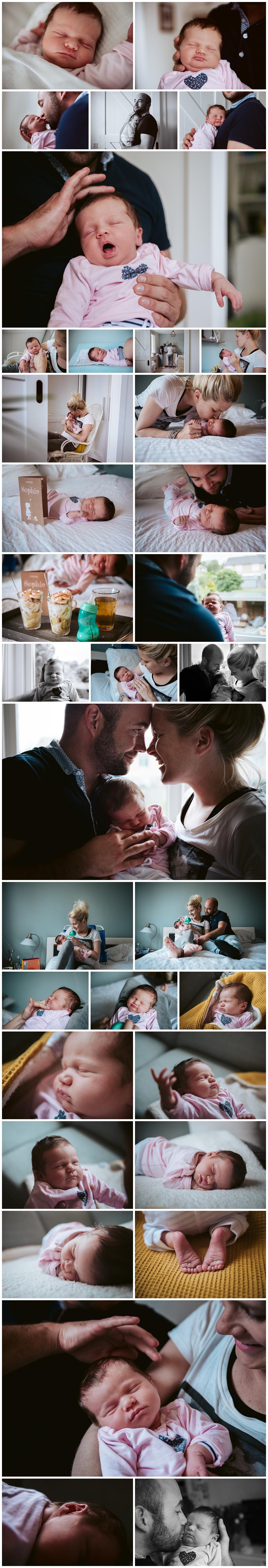 Selectie foto's van de Newbornshoot van Sophie